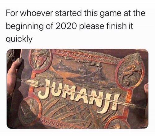 jumanji 2020 cuarentena